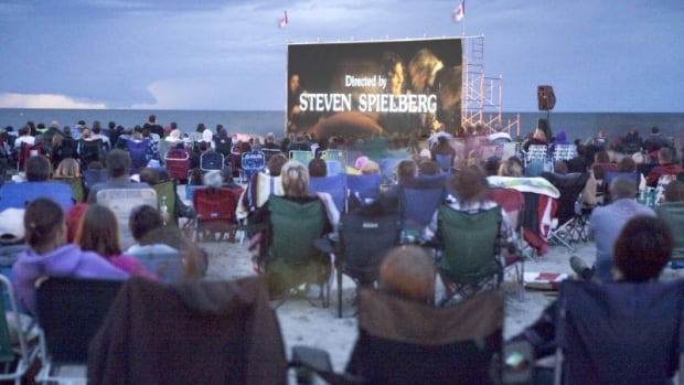 Cinema Under the Stars features family-friendly movies on the beach at Gimli.