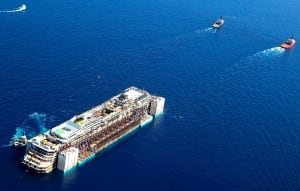 Costa Concordia towed Italy