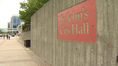 St. John's City Hall sign