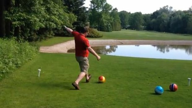 FootGolf is a hybrid sport that combines golf and soccer.