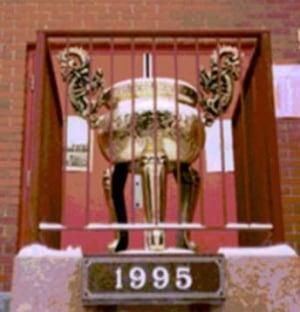 Stolen Buddhist incense urn