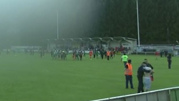 Pro-Palestinian protesters stormed the pitch during a game between an Israeli soccer club and a French team.
