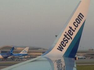 WestJet plane at Pearson