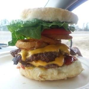Bannock Burger on the menu