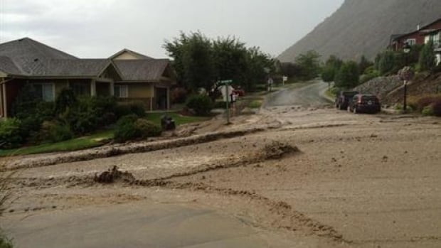 Homeowners are cleaning up after rivers of mud washed through the streets of Kamloops on Wednesday afternoon.