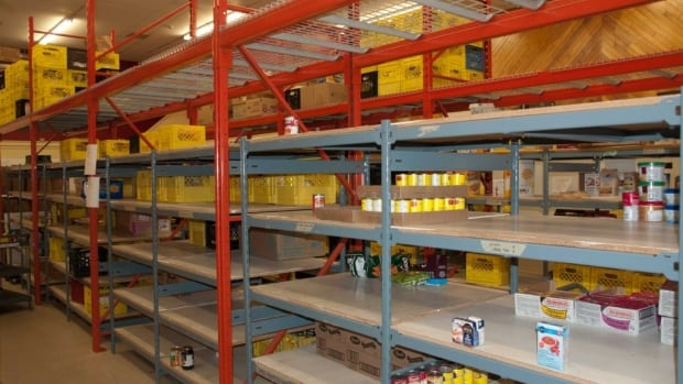The shelves are almost bare at the Whitehorse Food Bank.