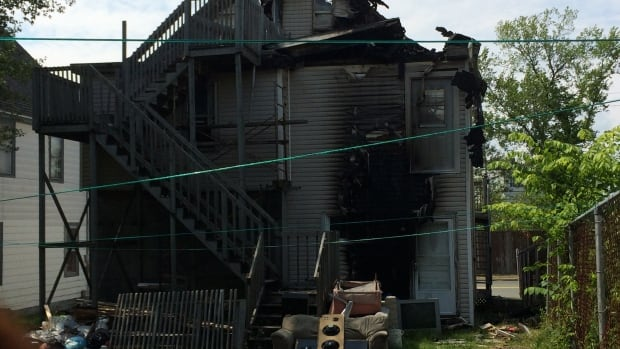 An overnight fire heavily damaged a two storey house on Townsend Street in Sydney.