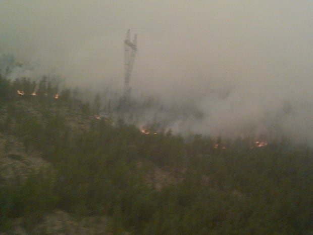 fire near snare power line to Behchoko
