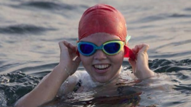 Annaleise Carr's 75-kilometre swim across Lake Erie at 5:20 a.m. on Friday. Now 16, Carr made a successful swim across Lake Ontario two years ago.