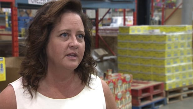 Calgary Food Bank spokeswoman Shawna Ogston says demand for hampers is up this summer by about 10 per cent over last year.