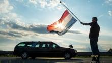 Netherlands repatriation ceremony flag