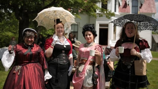 Steampunks gather at last year's reunion.