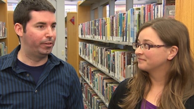 Lara Killian of Capital Health and library database manager Dave MacNeil came up with a new digital health pamphlet system for Halifax Public Libraries.