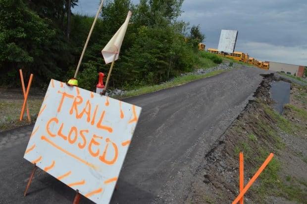 Closed recreational trail