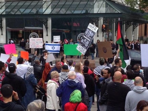 Pro-Palestinian rally
