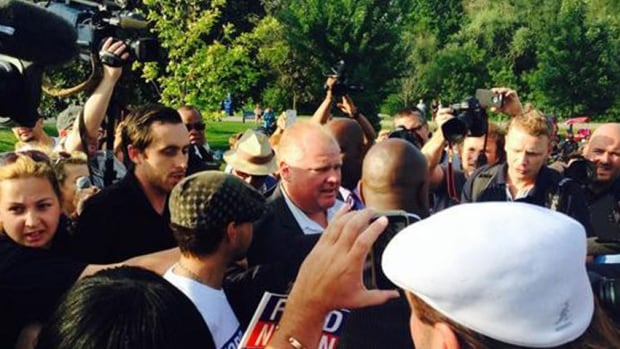 Toronto Mayor Rob Ford was greeted by a huge crowd of supporters when he arrived at his annual Ford Fest today.