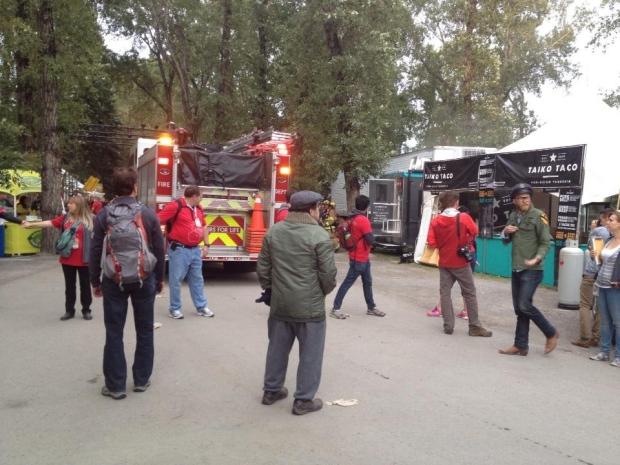 Food truck fire