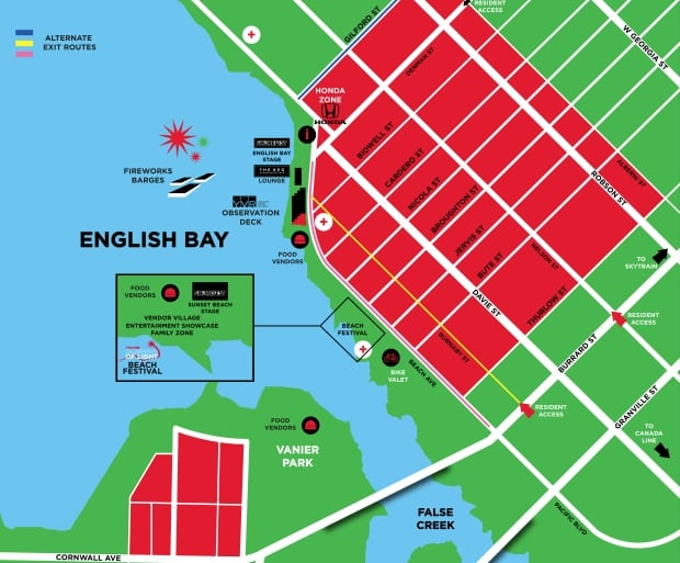 Honda Celebration of Light map 2014