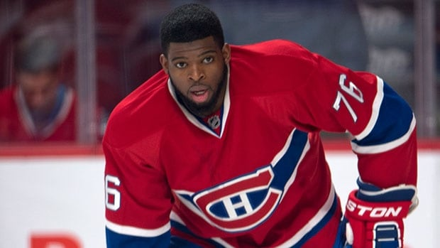 Montreal Canadiens defenceman P.K. Subban is schooled for arbitration on Friday.