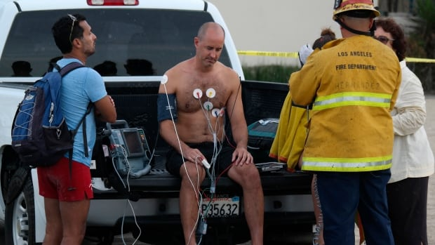 It is believe that multiple people injured during a rare summer lightning storm near Venice Beach in Los Angeles were in water when they were struck.