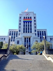 Vancouver City Hall Pride Flag