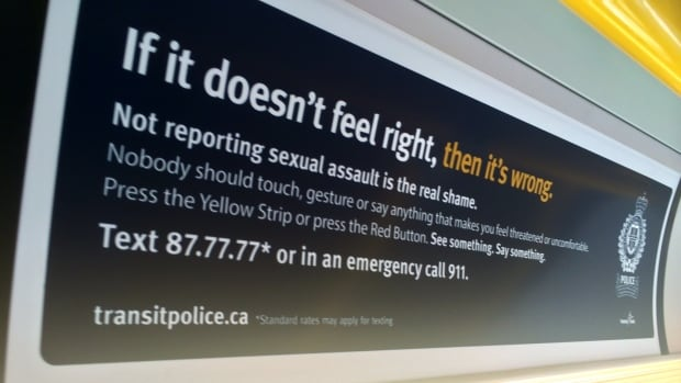 Transit Police are removing hundreds of posters after complaints were made around wording that some felt blamed victims of sexual assault.