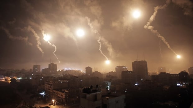 Israeli forces targeted a top Hamas official's home Tuesday in the most intense night of bombardment since the newest round of fighting in Gaza began three weeks ago.
