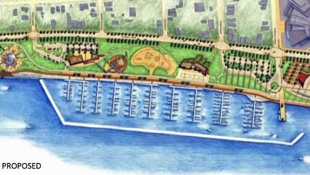 A riverfront marina is just one proposal for Windsor's waterfront.