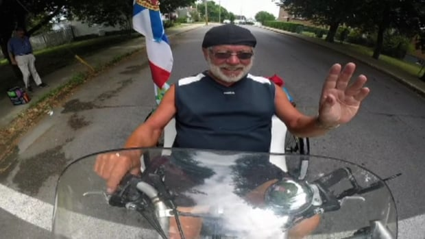 Barry Davidson, a 72-year-old cyclist from Ontario, is checking a big item off his bucket list after being diagnosed with an abdominal aneurysm.