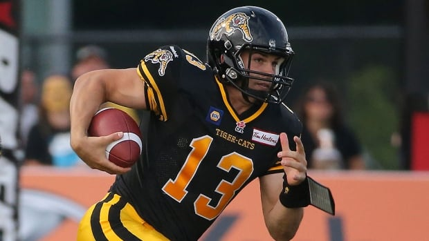Tiger-Cats quarterback Dan LeFevour was named the CFL's offensive player of the week Tuesday after he completed 21 of 30 passes for 361 yards and rushed for another 109 in  Saturday's 33-23 victory over Ottawa. It was his first start in the league.