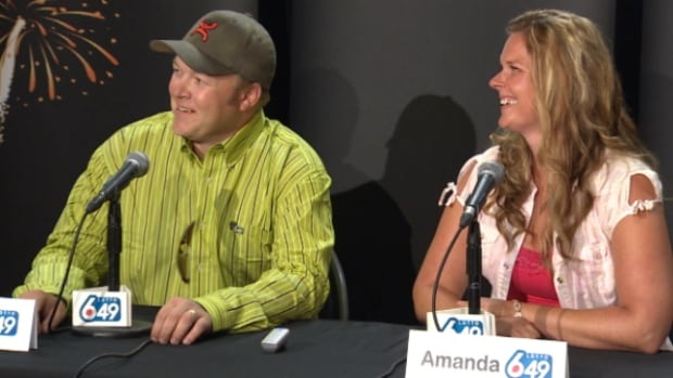 Bradley and Amanda Kelly won $18 million in June's 6/49 draw.