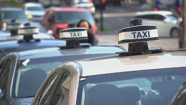 The taxi industry says it will resort to pressure tactics if the Quebec  government does not table a bill against Uber by mid-April. (CBC)