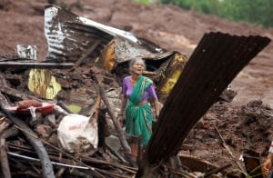 India Landslide damage