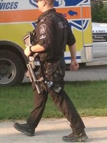 Police standoff