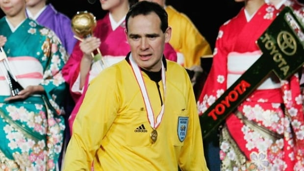 Hector Vergara, who is being inducted into the Canadian Soccer Hall of Fame, holds the record for the most World Cup games as a referee or assistant referee with 14.