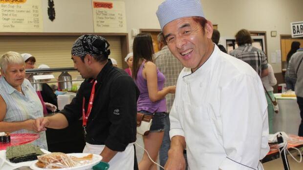 Chef Sadao Ohno enjoys presiding over the kitchen at the Japanese Pavilion