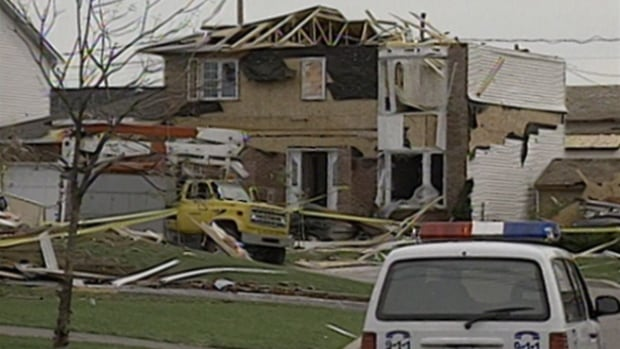 The tornado that struck Aylmer, Que., on Aug. 4, 1994, damaged some 385 homes and injured four people.
