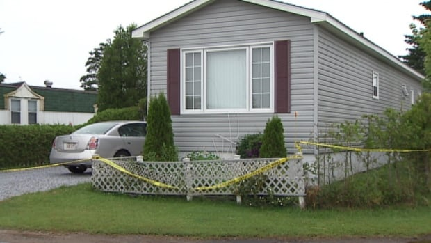 A 65-year-old man and 51-year-old woman were taken to hospital following the shooting in the  Morland Trailer Park yesterday.