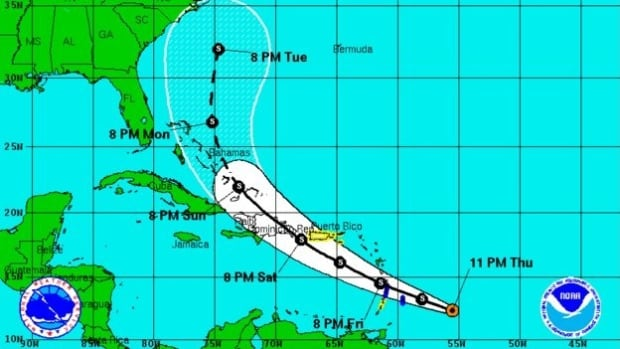 Bertha's maximum sustained winds held at 85 km/h Saturday, and slow strengthening was expected by Sunday night.