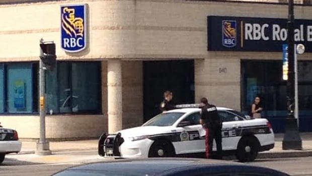 Police were called to the Royal Bank on Main Street, across from the Manitoba Museum, just after 3 p.m. on Thursday to investigate an armed robbery.