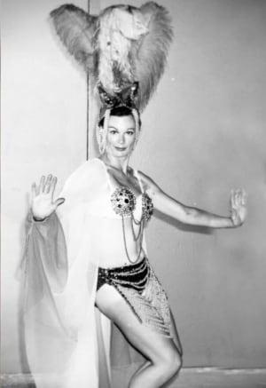 Daphne Korol wearing costume designed by husband Taras (Ted) Korol