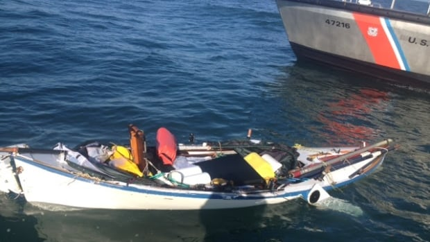 The rowboat of missing solo rower Paul Clark, 69, was recovered by the U.S. Coast Guard on Thursday.