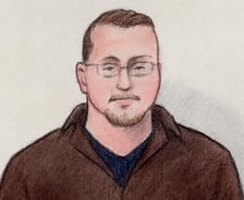 Robert Campbell courthouse sketch cyberbullying charges August 1 2014