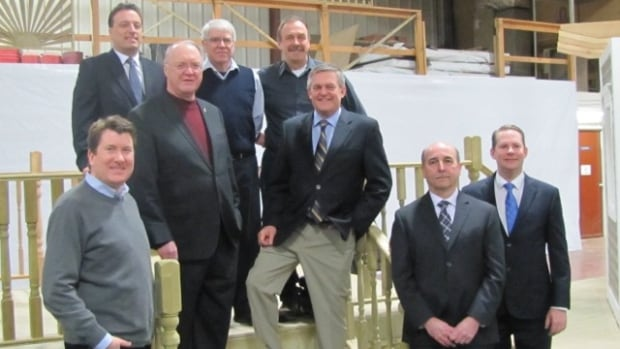 One Twitter user tweeted a link to another ACOA press release, this one from January 2014, announcing a $500,000 federal loan to Marwood Ltd. in Tracy. John Williamson is visible in this ACOA photograph from that announcement.