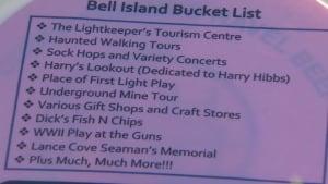Bell Island tourism bucket list