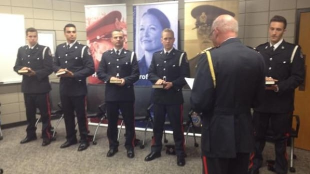 Six new recruits were sworn in by Regina Police Chief Troy Hagen Friday morning at police headquarters.