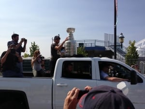 Mike Richards with Stanley Cup