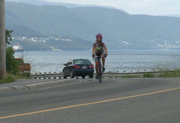 Maike van Niekerk cycling Corner Brook