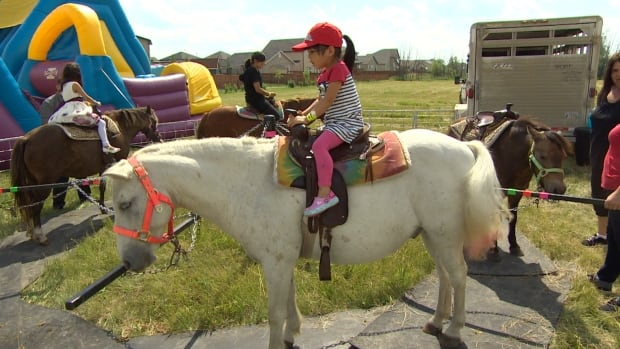 Children got pony rides as part of the Eid Festival at the Waverley Grand Mosque Saturday.