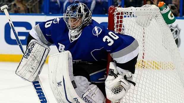 Ben Bishop had a 37-14-7 record with a 2.23 goals-against average and five shutouts in 63 starts for the Lighting last season.